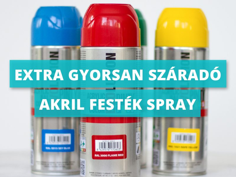 Extra gyorsan száradó akril festék spray